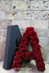 Siz isteyin sevdiklerinizin adını kutuya çiçeklerle yazalım, 15-20 adet gülden hazırlanan dizayn ile ona onun adını taşıyan bir sürpriz yapın. Yaklaşık ürün boyutu: 30 cm Not: Sipariş teslimatı kutu stok durumuna göre 1-3 iş günü sürmektedir.