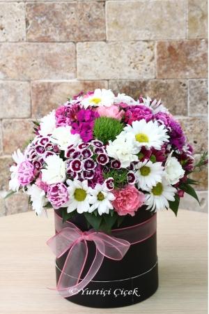 Yuvarlak Kutu Kır Çiçekleri